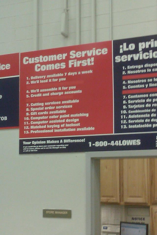 lowes customer service